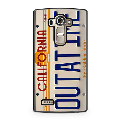 Back To The Future Delorean License Plate LG G4 case