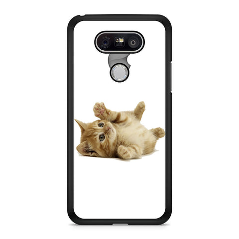 Cute Kitten with apple logo custom LG G5 case