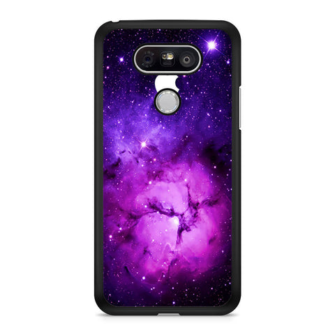 Purple Galaxy Nebula with apple logo LG G5 case