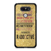 Gold Faux Glitter Radioactive Imagine Dragons lyrics LG G5 case