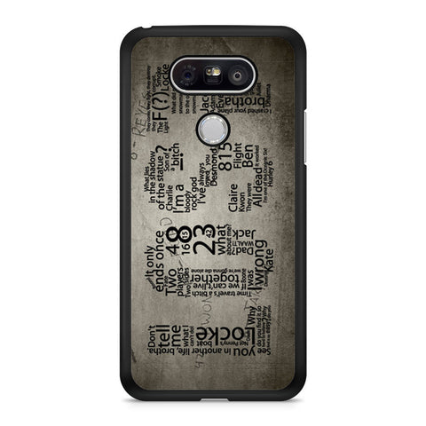 Lost TV Series Quotes Game LG G5 case