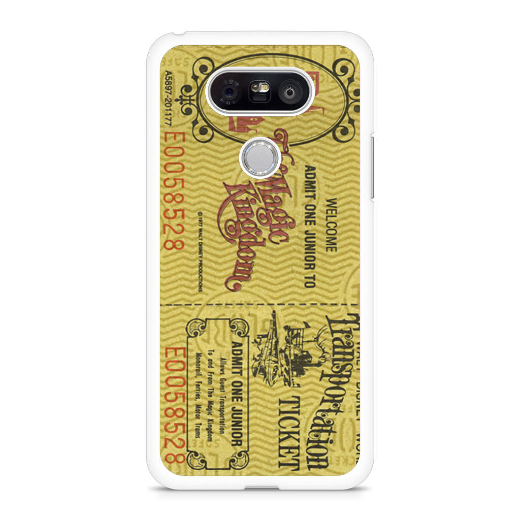 Transportation World Disney World Vintage Disneyland LG G5 case
