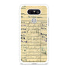 Library Due Card Vintage LG G5 case