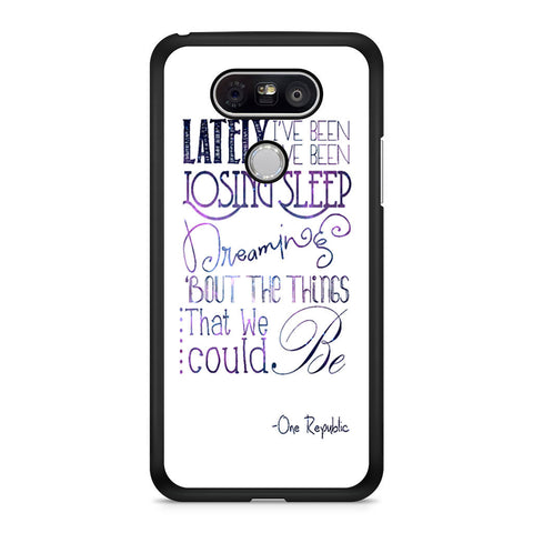 One Republic Counting Stars Lyric LG G5 case