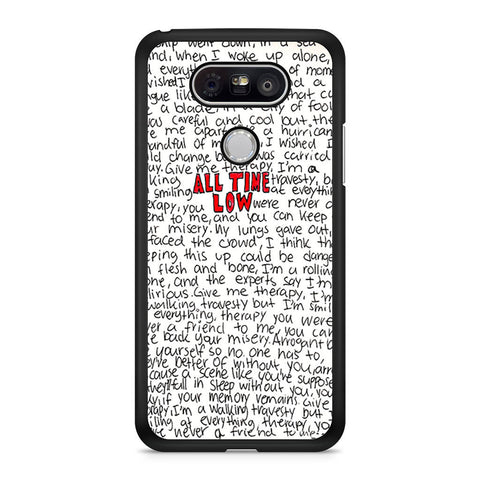 All Time Low Lyric LG G5 case