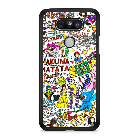 All Disney Princesses Collage LG G5 case
