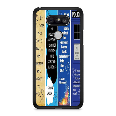 Doctor Who, The Great Gatsby, The Fault In Our Stars, Harry Potter LG G5 case