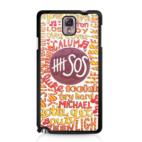 5 Seconds Of Summer 5SOS Quote Design Samsung Galaxy Note 3 case