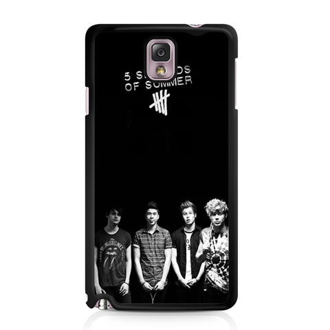 5 Seconds of Summer B/W Photograph Samsung Galaxy Note 3 case