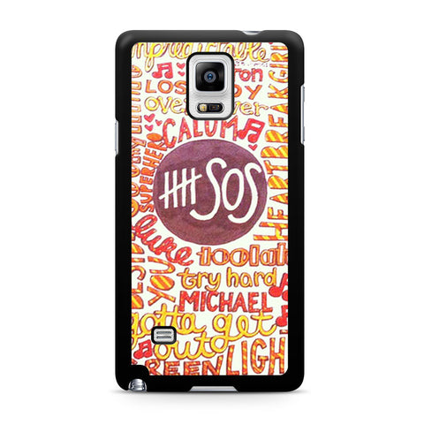 5 Seconds Of Summer 5SOS Quote Design Samsung Galaxy Note 4 case