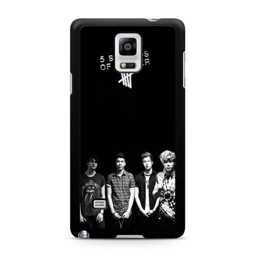 5 Seconds of Summer B/W Photograph Samsung Galaxy Note 4 case