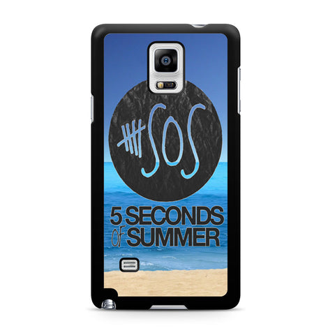 5 Seconds of Summer Beach Samsung Galaxy Note 4 case