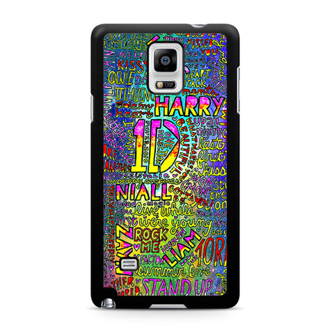 1D One Direction Lyrics Samsung Galaxy Note 4 case