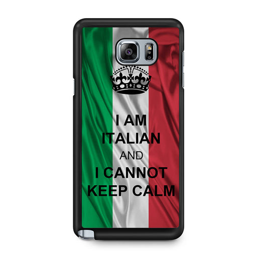 I Am Italian And I Can Not Keep Calm Samsung Galaxy Note 5 case