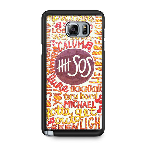 5 Seconds Of Summer 5SOS Quote Design Samsung Galaxy Note 5 case