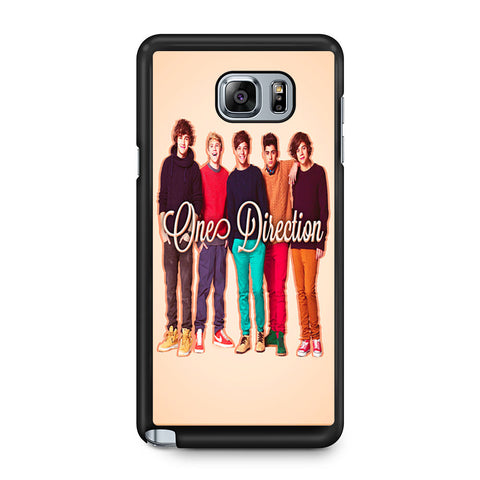 1D One Direction Personnel Samsung Galaxy Note 5 case