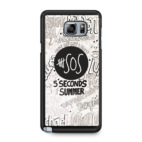 5 Seconds Of Summer Collage Samsung Galaxy Note 5 case