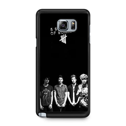 5 Seconds of Summer B/W Photograph Samsung Galaxy Note 5 case