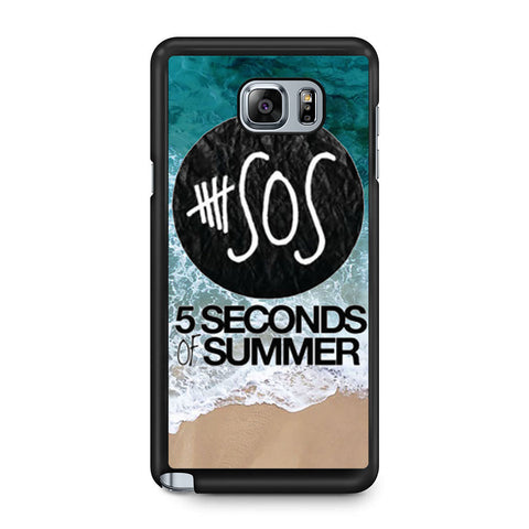 5 Seconds of Summer Band The Beach Samsung Galaxy Note 5 case