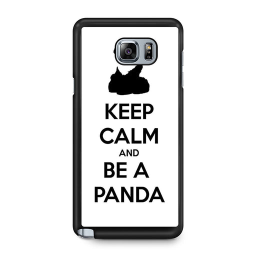 Keep Calm and Be A Panda Samsung Galaxy Note 5 case