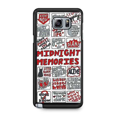 1D Midnight Memories Collage Samsung Galaxy Note 5 case