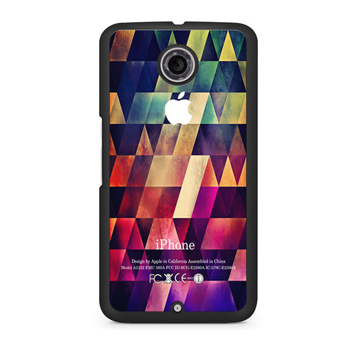 Abstract Apple Geometric Nexus 6 case