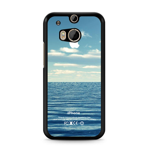 Blue Ocean Beach Bokeh Silicone Photograph Spring Summer Vintage HTC One M8 case