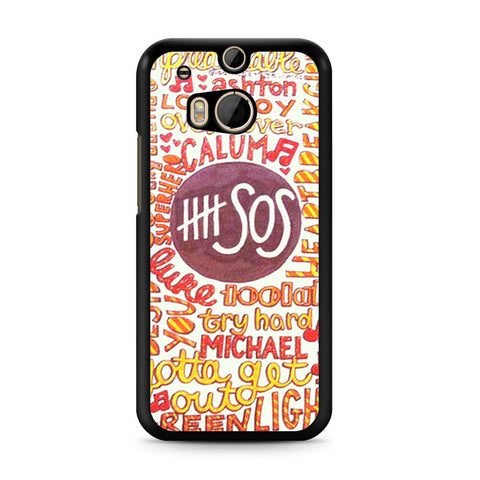 5 Seconds Of Summer 5SOS Quote Design HTC One M8 case