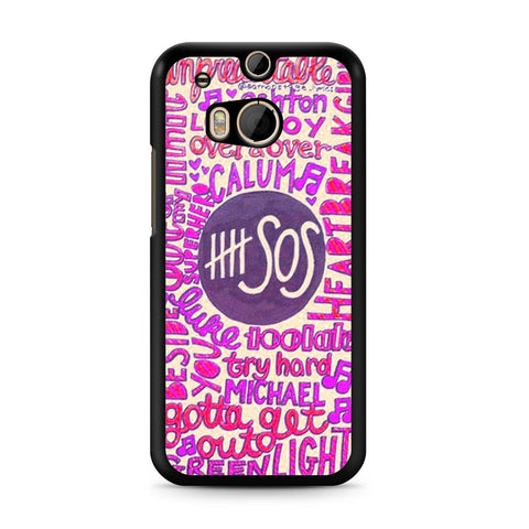 5 Seconds Of Summer Collage 2 HTC One M8 case
