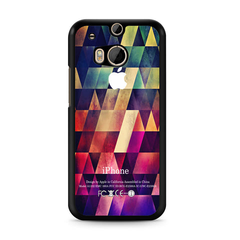 Abstract Apple Geometric HTC One M8 case