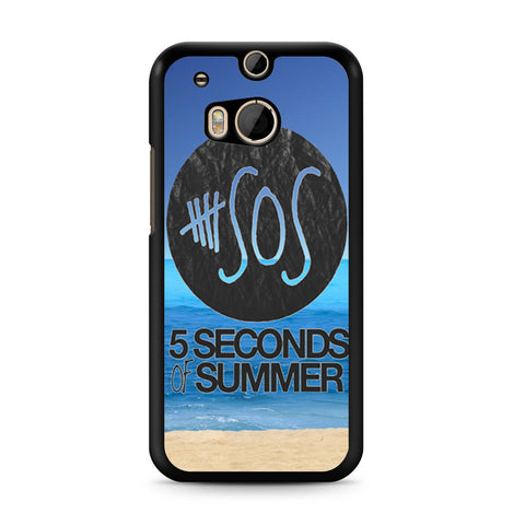 5 Seconds of Summer Beach HTC One M8 case