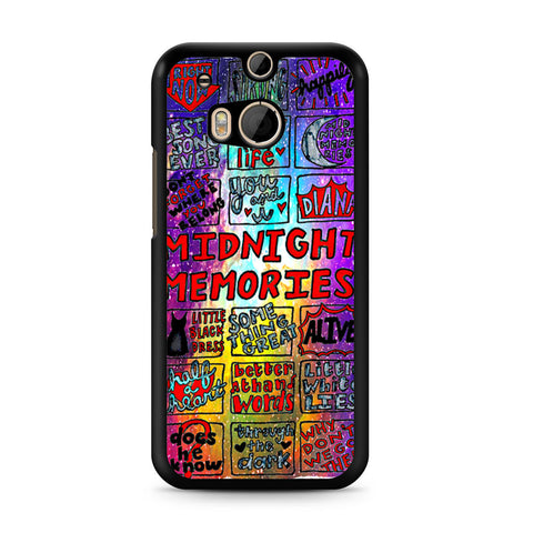 1d Midnight Memories Collage HTC One M8 case