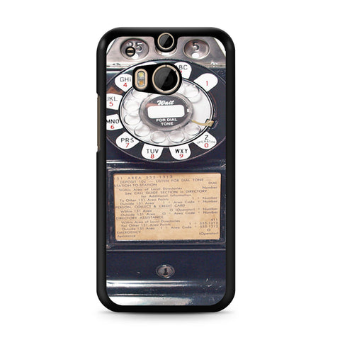 Black Retro Pay Phone HTC One M8 case