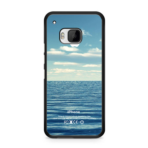 Blue Ocean Beach Bokeh Silicone Photograph Spring Summer Vintage HTC One M9 case