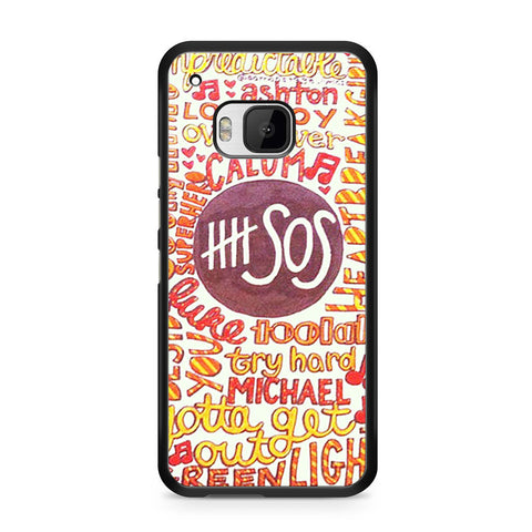 5 Seconds Of Summer 5SOS Quote Design HTC One M9 case