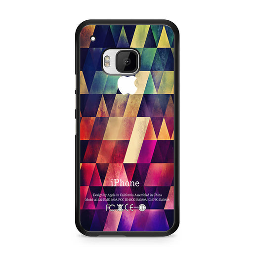 Abstract Apple Geometric HTC One M9 case