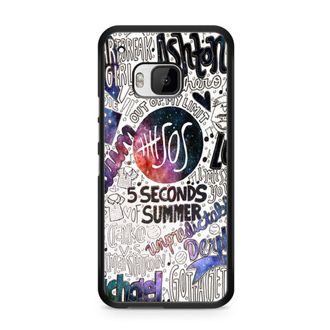 5 Seconds Of Summer Collage HTC One M9 case