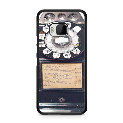 Black Retro Pay Phone HTC One M9 case