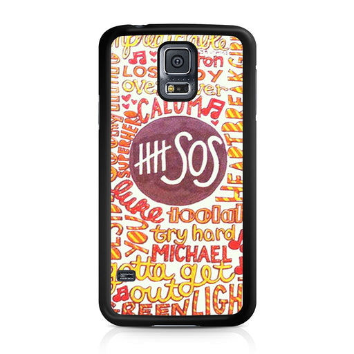 5 Seconds Of Summer 5SOS Quote Design Samsung Galaxy S5 case