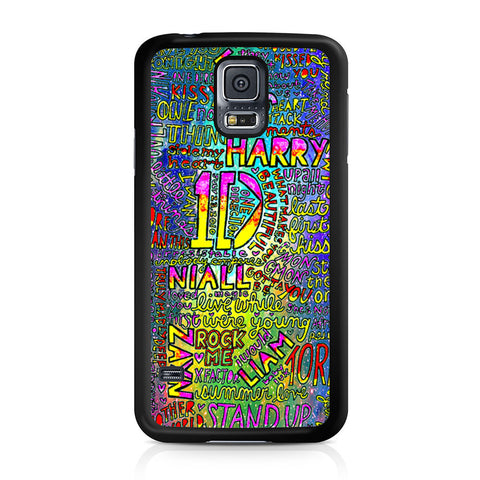 1D One Direction Lyrics Samsung Galaxy S5 case