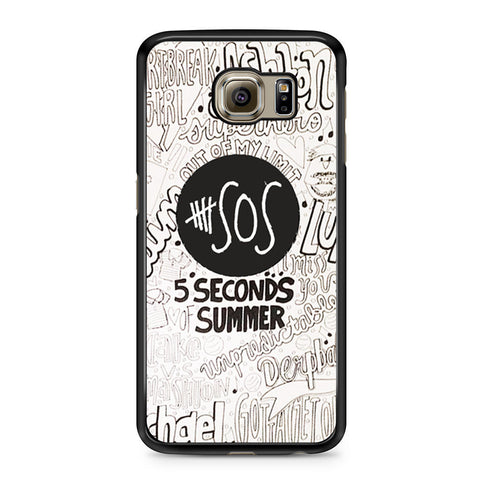 5 Seconds Of Summer Collage Samsung Galaxy S6 case