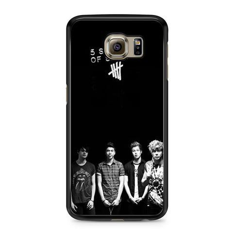 5 Seconds of Summer B/W Photograph Samsung Galaxy S6 case