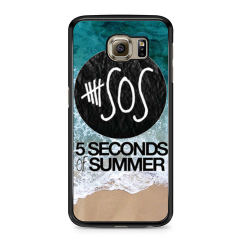 5 Seconds of Summer Band The Beach Samsung Galaxy S6 case