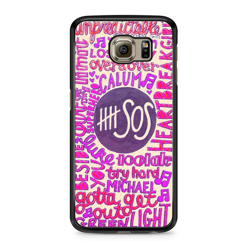 5 Seconds Of Summer Collage 2 Samsung Galaxy S6 case