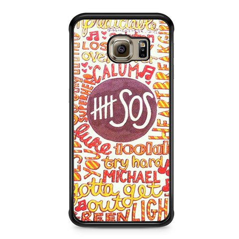 5 Seconds Of Summer 5SOS Quote Design Samsung Galaxy S6 Edge case