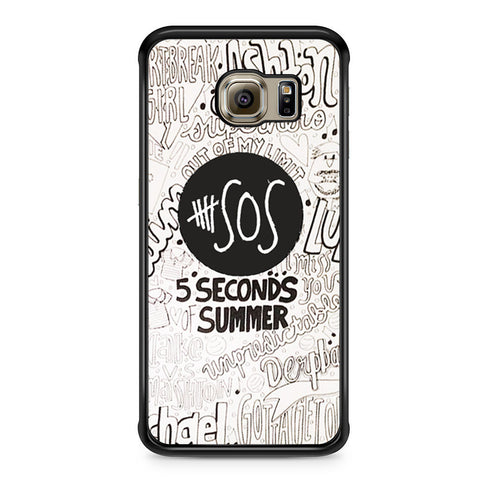 5 Seconds Of Summer Collage Samsung Galaxy S6 Edge case