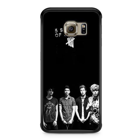 5 Seconds of Summer B/W Photograph Samsung Galaxy S6 Edge case
