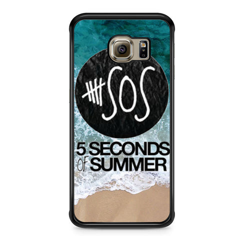 5 Seconds of Summer Band The Beach Samsung Galaxy S6 Edge case