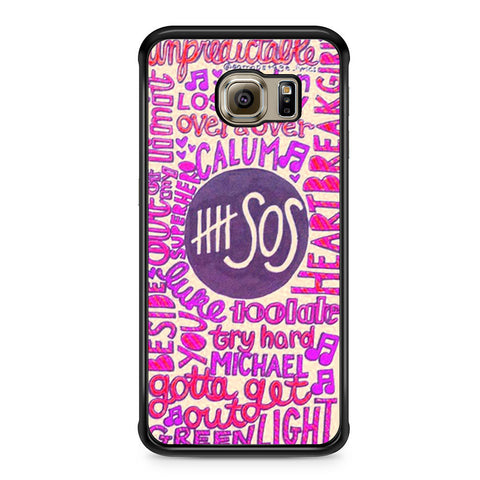 5 Seconds Of Summer Collage 2 Samsung Galaxy S6 Edge case