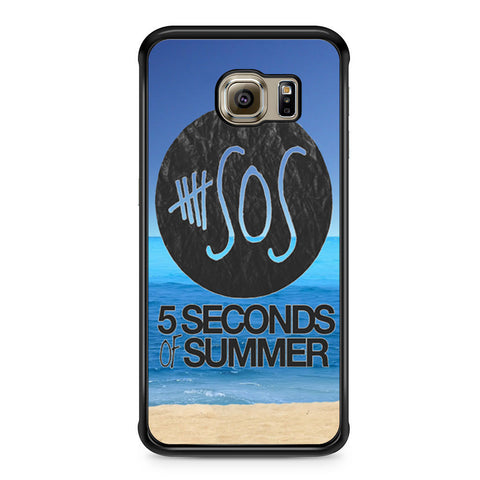 5 Seconds of Summer Beach Samsung Galaxy S6 Edge case